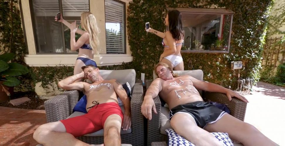 Older Guys Young Girls Foursome