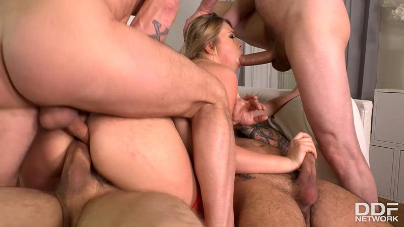 four cocks in all holes