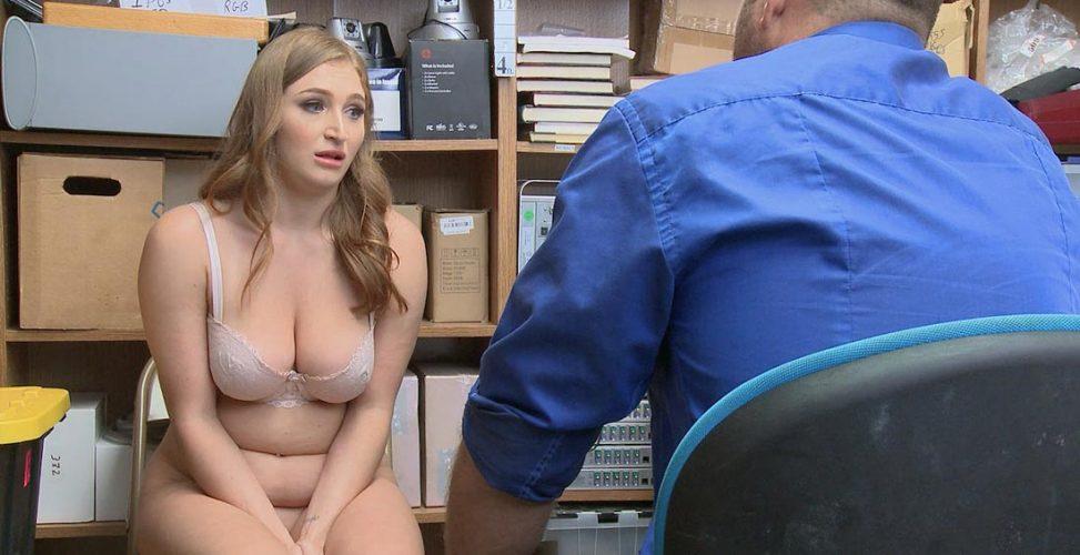 Curvy blonde shoplifter