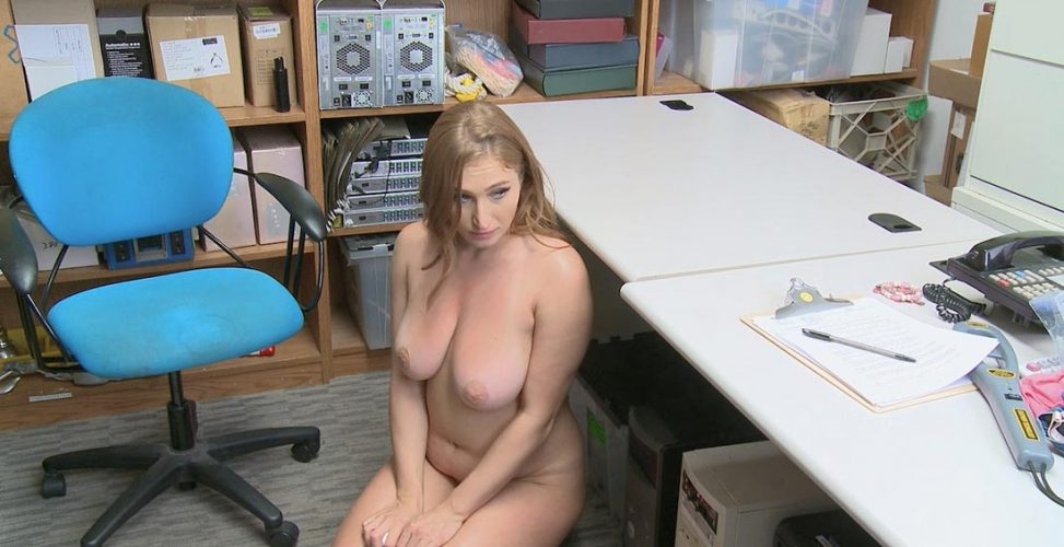 shoplifter gets caught and fucked