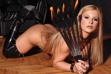 Dorothy Black firedance striptease