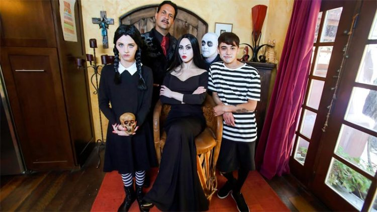 Addams family halloween orgy video