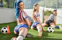 Soccer Babes Hop On Big Cock